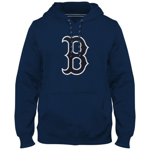 Boston Red Sox Express Twill Logo Hoodie - Navy