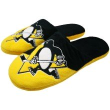 Pittsburgh Penguins NHL YOUTH Big Logo Slippers