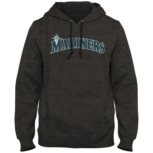Seattle Mariners MLB Express Twill Logo Home Field Hoodie - Twisted Charcoal
