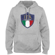 Italy MyCountry Express Twill Logo Hoodie - Athletic Gray