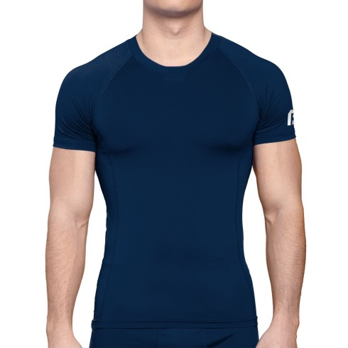 Bulletin Pro Sports Performance Base Layer Compression Short Sleeve T-Shirt - Navy