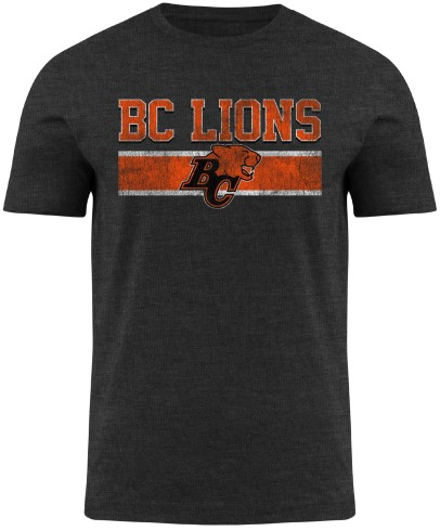 BC Lions CFL Moxie Heathered T-Shirt - Charcoal