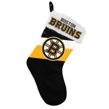 Boston Bruins NHL 17 inch Color Block Christmas Stocking