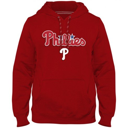 Philadelphia Phillies MLB Express Twill Applique Home Field Hoodie - Red