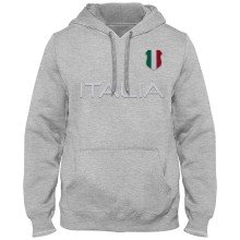 Italy MyCountry Express Twill Home Field Hoodie - Athletic Gray