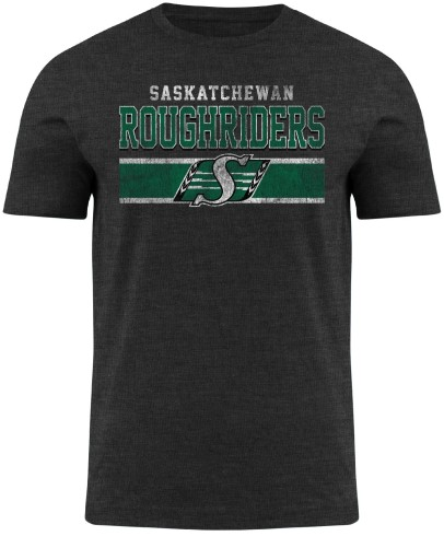 Saskatchewan Roughriders CFL Moxie Heathered T-Shirt - Charcoal