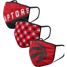 Toronto Raptors NBA FOCO Face Cover Mask - 3-pack