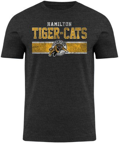 Hamilton Tiger-Cats CFL Moxie Heathered T-Shirt - Charcoal
