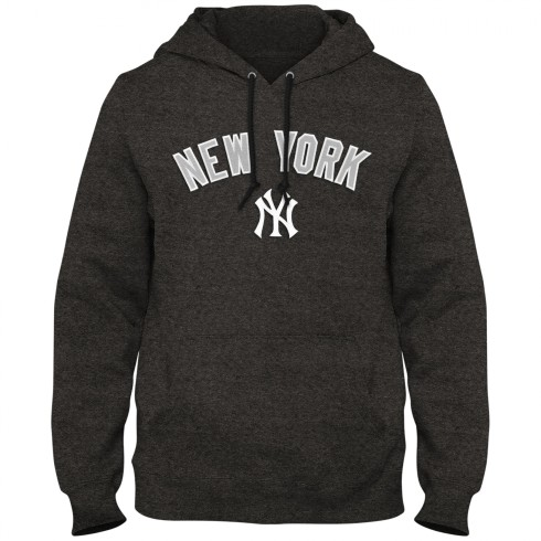 New York Yankees MLB Express Twill Logo Home Field Hoodie - Twisted Charcoal