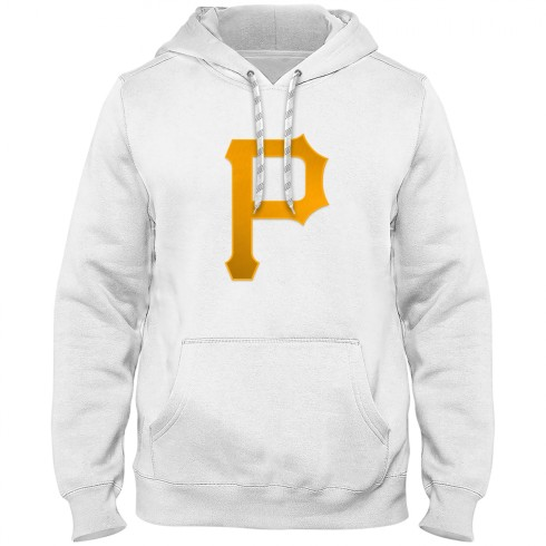 Pittsburgh Pirates MLB Express Twill Logo Hoodie - White