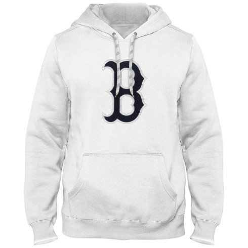 Boston Red Sox Express Twill Logo Hoodie - White