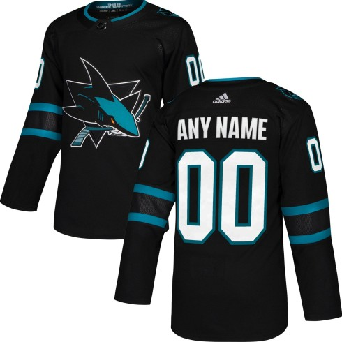 San Jose Sharks ANY NAME adidas NHL Authentic Pro Alternate Jersey - Pro Stitched