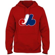 Montreal Expos MLB Twill Logo Hoodie - Red