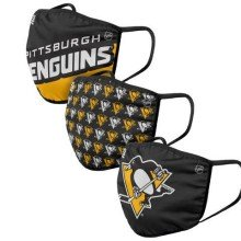 Pittsburgh Penguins NHL FOCO Gametime Face Cover Mask - 3-pack