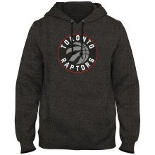 Toronto Raptors NBA Express Twill Logo Hoodie - Twisted Charcoal