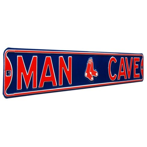 Boston Red Sox MLB MAN CAVE Authentic Steel Street Sign