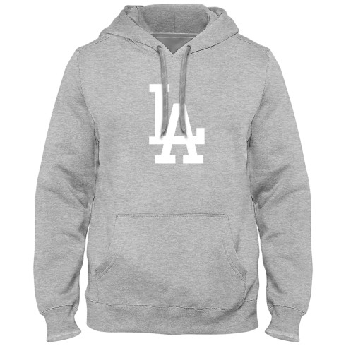 Los Angeles Dodgers MLB Express Twill Logo Hoodie - Athletic Gray