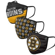 Masque de couverture visage Gametime - paquet de 3 des Bruins de Boston