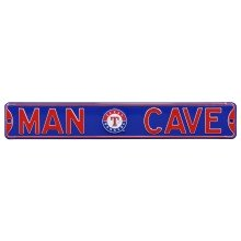 Texas Rangers MLB MAN CAVE Authentic Steel Street Sign