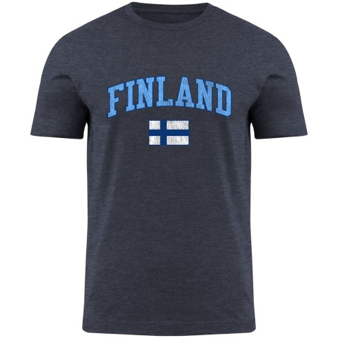 Finland MyCountry Vintage Jersey T-Shirt - Navy Heather