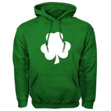 St. Patrick's Day Irish Clover Twill Pullover Hoodie (Kelly)