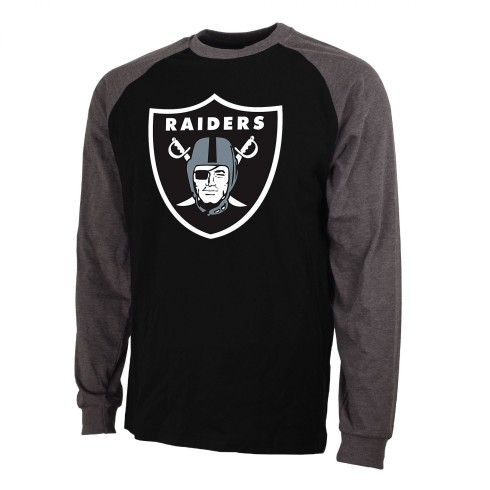 Las Vegas Raiders NFL '47 Basic Logo Raglan Long Sleeve T-Shirt