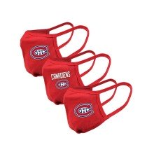 Montreal Canadiens YOUTH NHL Levelwear Guard-2 Face Cover Mask - 3-pack