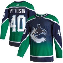 Elias Pettersson Vancouver Canucks adidas NHL Authentic Pro Reverse Retro Jersey - Pro Stitched