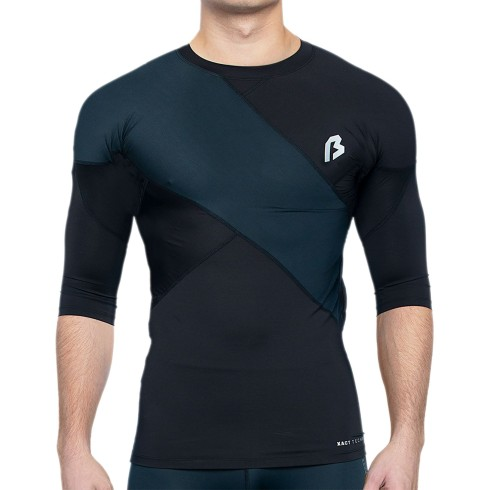 Bulletin Pro Sports X-ACT Performance RIGHT Panel Compression Short Sleeve T-Shirt - Black