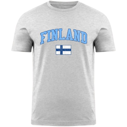 Finland MyCountry Vintage Jersey T-Shirt - White Heather