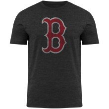 Boston Red Sox YOUTH Distressed Print Logo Charcoal T-Shirt