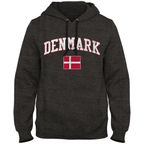 Denmark MyCountry Vintage Premium Hoodie - Twisted Charcoal