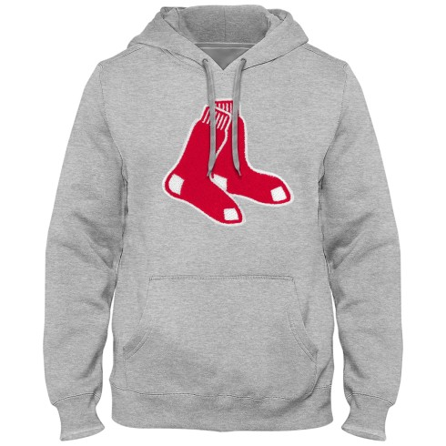 Boston Red Sox Express Twill Logo Hoodie - Athletic Gray (Alternate Logo)