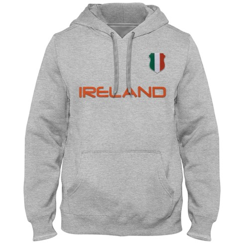 Ireland MyCountry Express Twill Home Field Hoodie - Athletic Gray