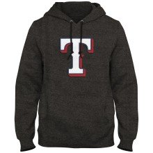 Texas Rangers MLB Express Twill Logo Hoodie - Twisted Charcoal
