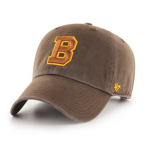 Boston Bruins Vintage NHL `47 Clean Up Cap - Brown | Adjustable