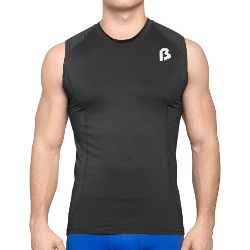 Bulletin Pro Sports Performance Base Layer Compression Sleeveless T-Shirt - Black