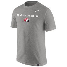 Team Canada IIHF Core Cotton T-Shirt - Gray