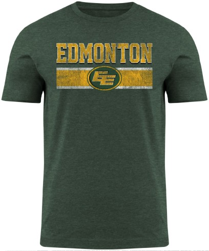 Edmonton Football  Club CFL Moxie Heathered T-Shirt - Forest green