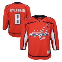 Alexander Ovechkin Washington Capitals NHL Premier CHILD (4-7) Replica Home Hockey Jersey