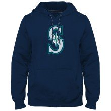 Seattle Mariners MLB Express Twill Logo Hoodie - Navy