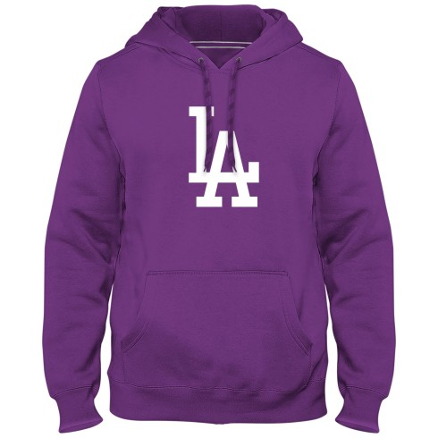 Los Angeles Dodgers MLB Express Twill Logo Hoodie - Purple