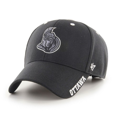 Ottawa Senators NHL '47 MVP Defrost Cap - Black Charcoal | Adjustable