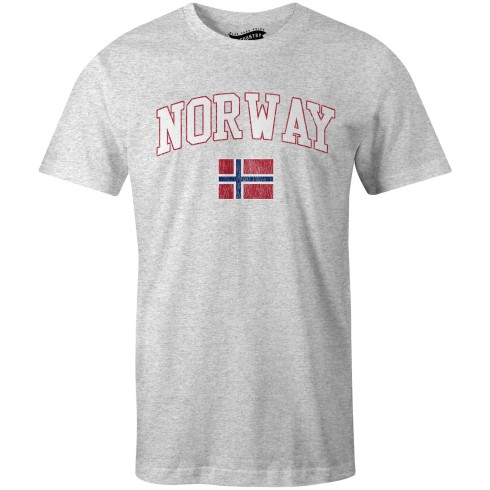 Norway MyCountry Vintage Jersey T-Shirt - Heather Gray