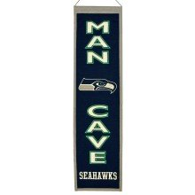 Seattle Seahawks NFL MAN CAVE Wool Banner