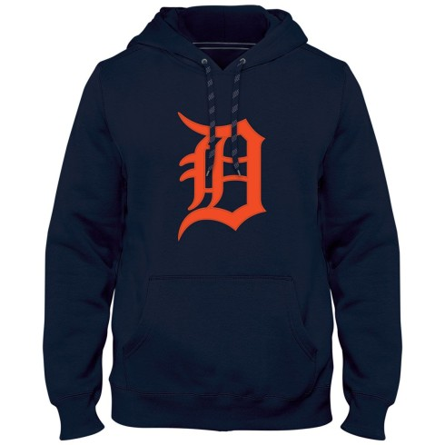 Detroit Tigers MLB Express Twill Logo Hoodie - Navy